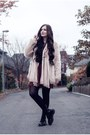Maroon-urban-outfitters-dress-light-pink-h-m-jacket