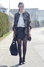 army green H&M Trend coat - black H&M boots - black H&M bag