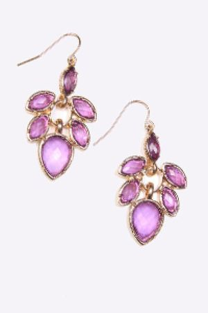 purple Send the Trend earrings