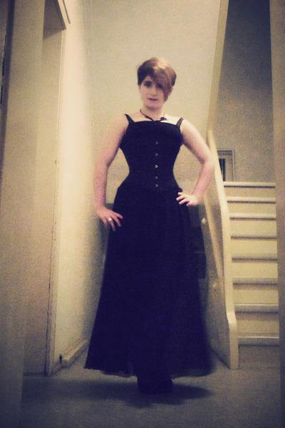 black DIY skirt - black gifted dress