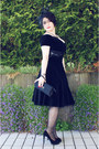 Black-vintage-dress-black-bijou-brigitte-hat