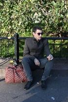 Chirstian Dior purse - Zara coat - Cheap Monday pants - glasses