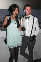 gloves - Ralph Lauren - Delsiena 1953 shirt - H&M dress