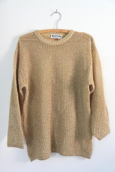 gold vintage sweater