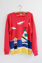 Red-beach-scene-vintage-sweater
