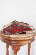 red turkish vintage clogs