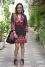 Black-ethnic-print-forever-21-dress-hot-pink-wayuu-wayuu-bag-bag