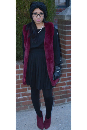 black Forever 21 dress - brick red Marshalls vest