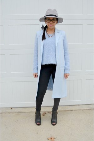 light blue Forever 21 vest - light blue Forever 21 sweater