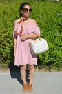 Pink-charlotte-russe-dress-white-louis-vuitton-bag