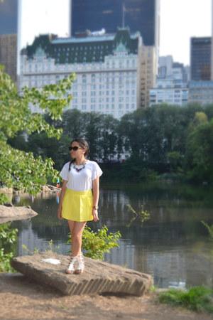 yellow Sheinsidecom skirt - black Walmart necklace