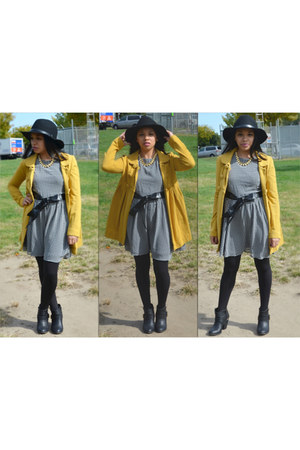 mustard Forever 21 jacket - black Forever 21 dress