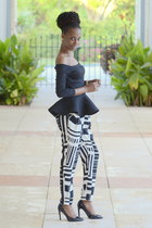 black Lookbook Store top - black slouchy urban og pants