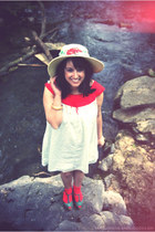red red ankle socks modcloth socks - white unknown brand dress