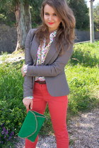 heather gray H&M blazer