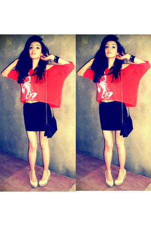 t-shirt - bag - skirt