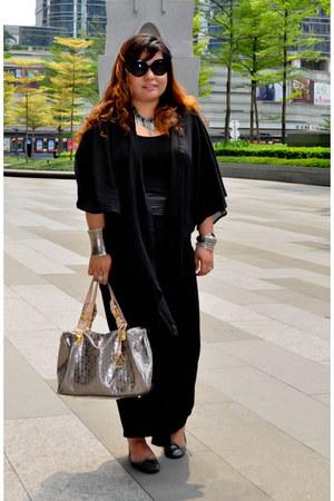 Forever 21 dress - Michael Kors bag - minimal baroque Prada sunglasses