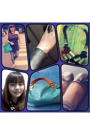metal cuff www bracelet - cyan Marc by Marc Jacobs bag - faded glory flats