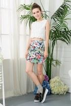 white shalex top - shalex skirt