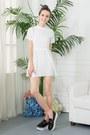 White-shalex-dress-salmon-shalex-socks