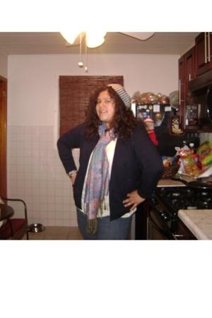 Target top - Marshalls blazer - Prvcy jeans - Fleamarkettt scarf - Marshalls sho