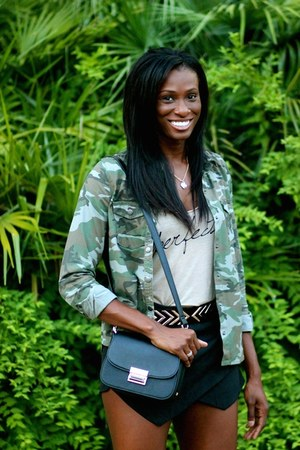 army Forever 21 jacket - black Charles & Keith bag