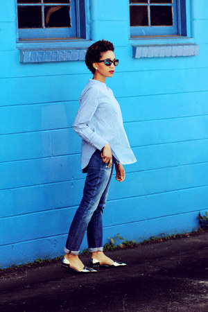 madewell jeans - tory burch shoes - madewell top