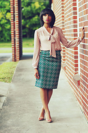 J Crew skirt - Miu Miu shoes - Forever 21 top
