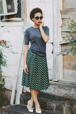 vince sweater - J Crew skirt