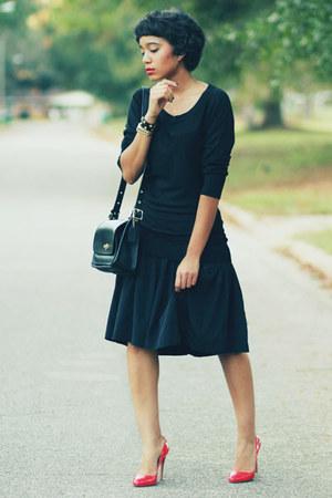 coach purse - DKNY dress - Prada heels