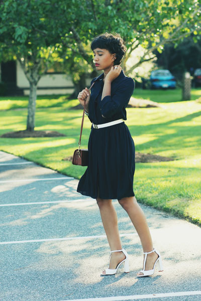 silk Alice  Olivia dress - leather Zara sandals