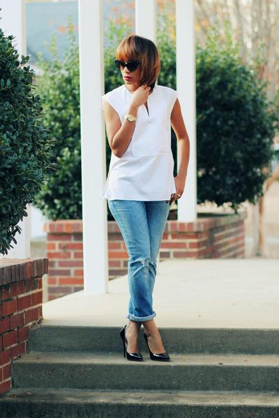 madewell jeans - J Crew top