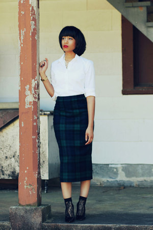 Dsquared2 skirt - J Crew shirt - Alexander Wang heels