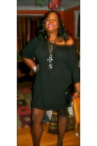DIY dress dress - Via Spiga pumps - Torrid thigh highs stockings