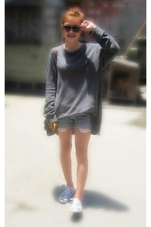 heather gray Cole Haan sweater