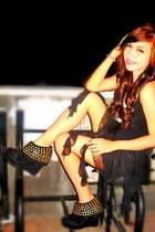 black Bazaar shoes - black H&M dress