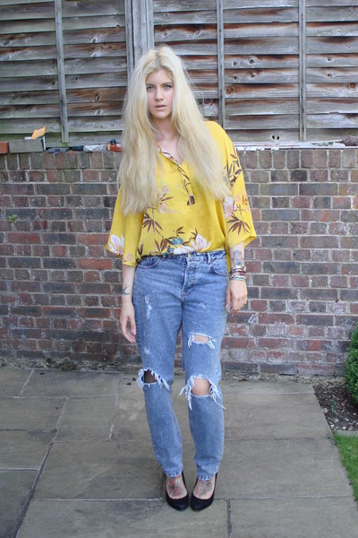 Zara blouse - asos jeans - Matalan heels - various bangles bangles bracelet