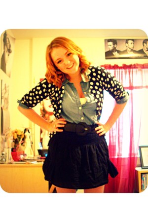 Target cardigan - Old Navy shirt - Target skirt