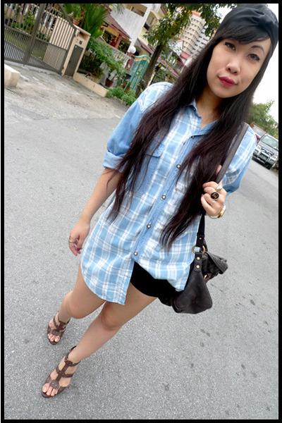 DIY accessories - vintage blouse - c&k shoes