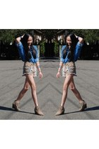 Mink Pink shorts - denim shirt American Apparel shirt
