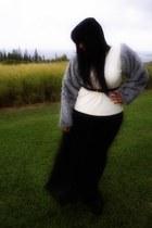 Jeffrey Campbell shoes - Mahina dress - thrifted belt - faux fur DIY sweatshirt
