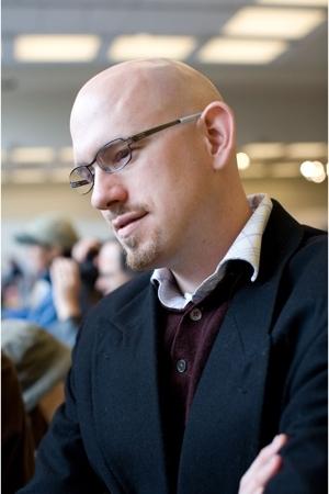blazer - Hugo Boss sweater - banana republic shirt - Ic Berlin glasses
