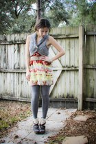 Forever 21 dress - gray tights H&M Trend tights