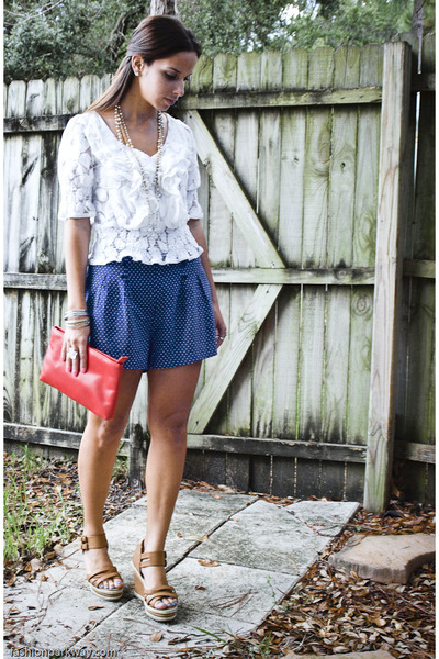 lace Forever 21 blouse - H&M shorts