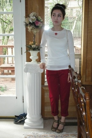 BP shirt - Gap pants - Forever21 purse - Dollhouse shoes - black market beads ne