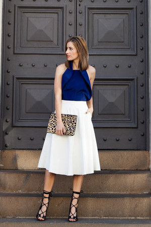 bardot skirt - Windsor Smith heels - Finders Keepers top