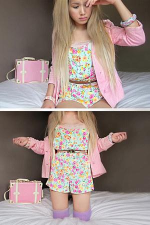 bubble gum bubble gum pink thrifted vintage blazer