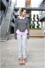 Zip-sweater-h-m-sweater-lilac-purple-topshop-shirt-trousers-zara-pants
