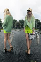 aquamarine knitted vintage sweater - tan Topshop boots