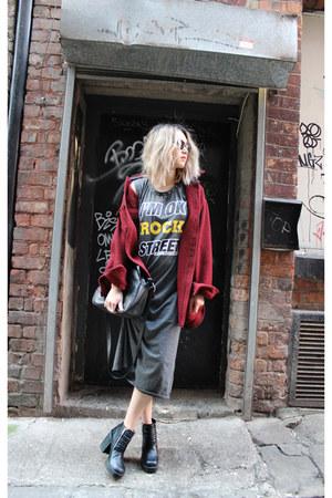 COW vintage coat - H&M boots - Ebay dress - leather bag Ebay bag